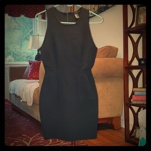 Forever 21 black fitted dress with cut outs nwot